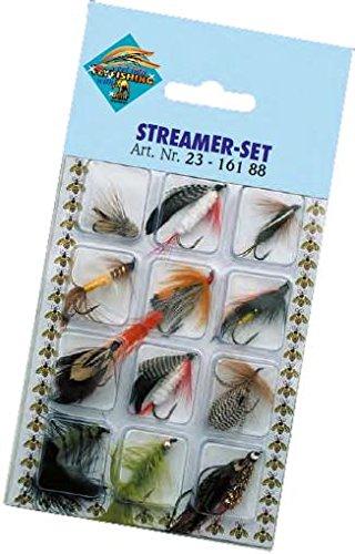 Streamer Angelset 12 Forellenstreamer Forellen Fliegen Angel Set Raubfisch Köder Hechtstreamer Forellenköder Kunstköder