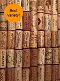 Premium Recycled Used Corks in Bulk, Natural Wine Corks From Around the Us, Best Variety, Includes Crafts Activity Sheet and Cork Cutting Instructions  (500 Count)