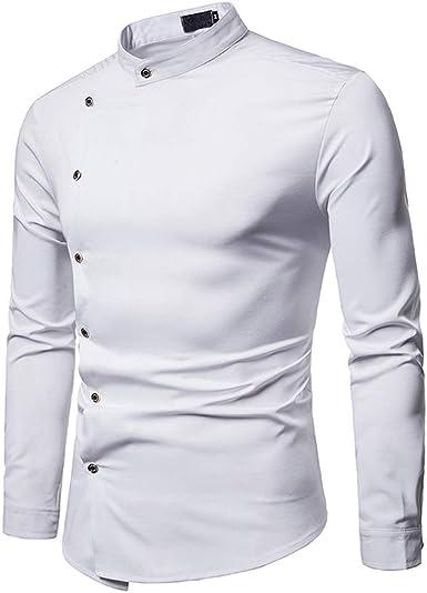TLLW - Camiseta blanca lisa, manga larga, color blanco ...