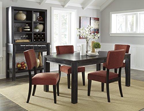 Gavellestong Vintage Casual Black Rectangular Dining Room Table w/ 4 Brick Side Chair