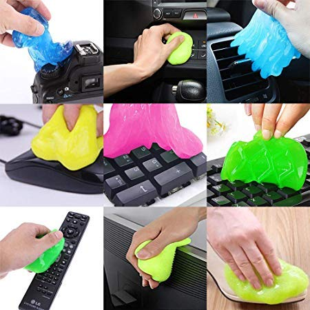 LAZI Multipurpose Car AC vent Interior Dust Cleaning Gel Jelly Detailing Putty Cleaner Kit Universal Car Interior, Keyboard, PC, Latop, Electronic Gadget Cleaning Kit (Pack of 1)