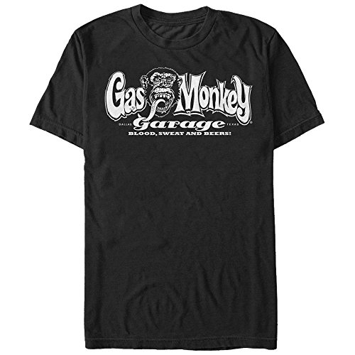 Fifth Sun Gas Monkey Men's Blood, Sweat, and Beers Black T-Shirt
