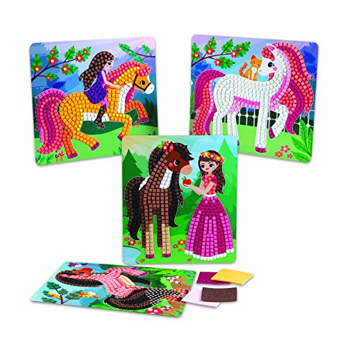 The Orb Factory Sticky Mosaics Horses Arts & Crafts, Brown/Yellow/Pink/Green, 12'' x 2'' x 10.75'' by The Orb Factory (Image #5)