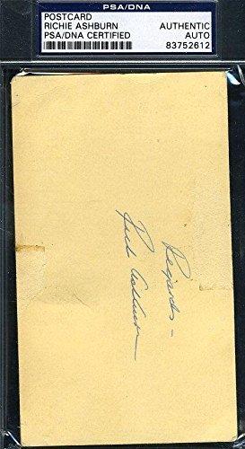 Richie Ashburn Authentic Signed 1951 Gpc Postcard Autograph - PSA/DNA Certified - MLB Cut Signatures