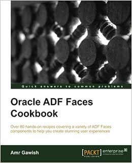 Amazon com: Oracle ADF Faces Cookbook (9781849689229): Amr Gawish: Books