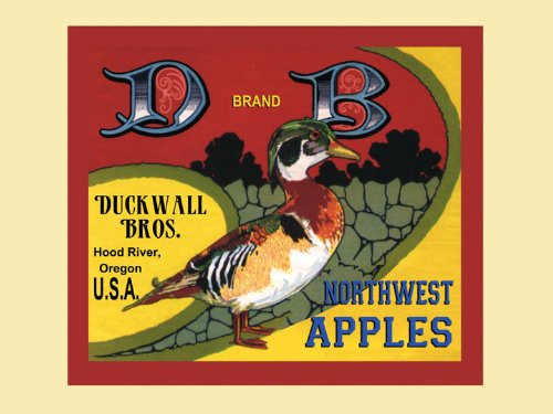 CANVAS Duck Wall Hood River Oregon Apples Produce in America USA Fruit Crate Label Vintage Poster Repro 12