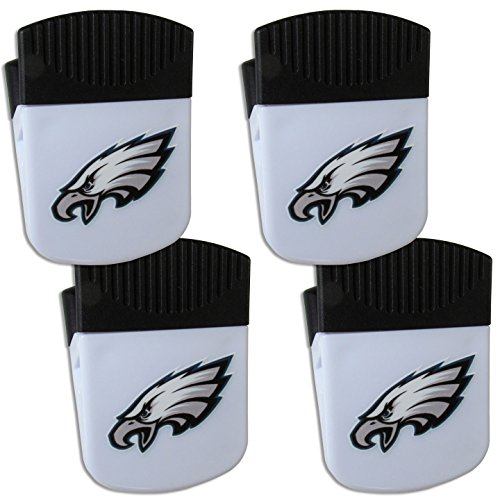 Siskiyou NFL Philadelphia Eagles Chip Clip Magnet with Bottle Opener, 4 Pack ()