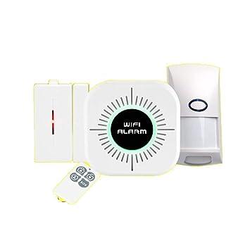 BUG-L Inicio WIFI Wireless Security Sistema Alarma, Detector Infrarrojos Comercial, Sensor Puerta, Control Remoto, Alarma Kit APP: Amazon.es: Hogar