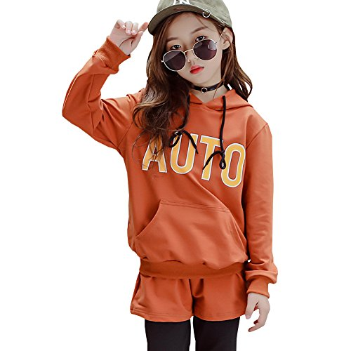 M&A Girls Hoodie and Pants 2 Piece Clothing Set Tracksuit for 3-13T by M&A (Image #1)
