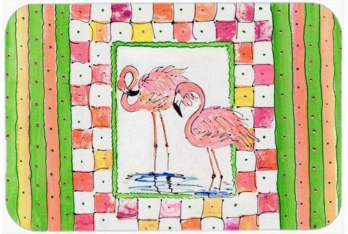 Caroline's Treasures 8077LCB Flamingo Glass Cutting Board, Large, Multicolor