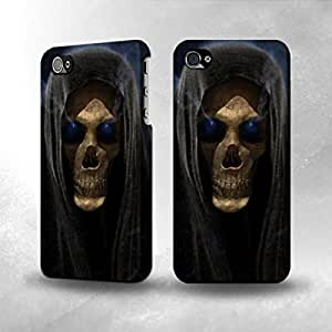 Apple iPhone 4 / 4S Case - The Best 3D Full Wrap iPhone Case - Grim Reaper Skull Death