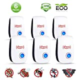 Ultrasonic Pest Repeller 2018 Latest No Pest Control of Electronic Mouse Repellent for Ants, Rats, Mosquito, Spider, Rodent, Roach and Fly, No Trap, Sprayer, Baits&Poison
