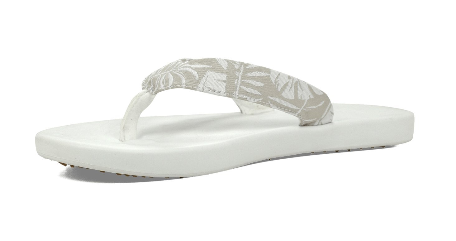 SoftScience Women's Waterfall Palm Flip-Flop B01LYZZX34 9 B(M) US|Light Gray