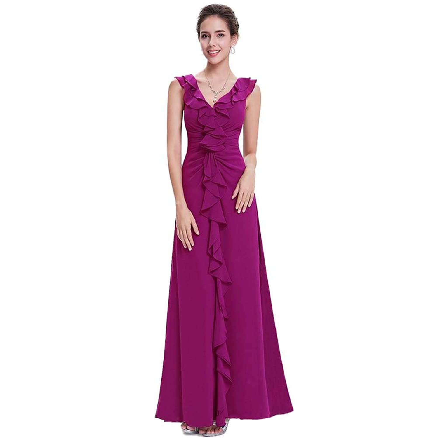 Ishop Womens Elegant Silk Evening Plus Size Dresses Size