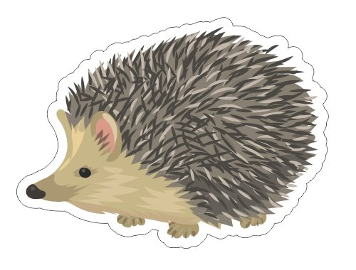 JS Artworks Cute pet Hedgehog Vinyl Bumper Sticker Decal