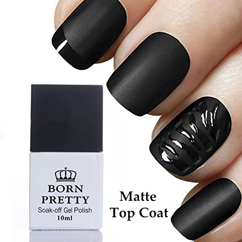 BORN PRETTY 10ml Matte Top Coat No Wipe Soak Off UV Gel Nail
