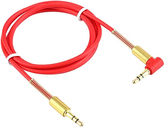 3.5mm Male to Male Car Aux Auxiliary Cord Right Angle Audio Cable For Phone 1m
