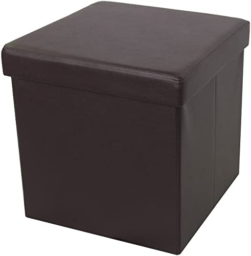 Brown Foldable Storage Ottoman