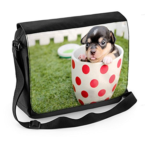 Messenger A Puppy Bag Tea Chihuahua Laptop Cup In 16Yw7R