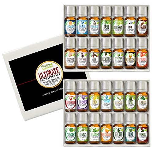 Ultimate Aromatherapy Gift Set 100% Pure, Best Therapeutic Grade Essential Oil Kit - 28/10mL