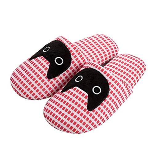 YUTIANHOME Men's Slippers Cotton Washable Soft Warm Non-Slip Flat Closed Toe Indoor Home Bedroom Shoes cat pattern pink Bwo0NWCgUz