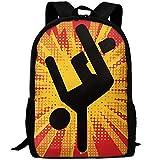 OIlXKV Break Dance Cool Street Dance Print Custom Casual School Bag Backpack Multipurpose Travel Daypack For Adult