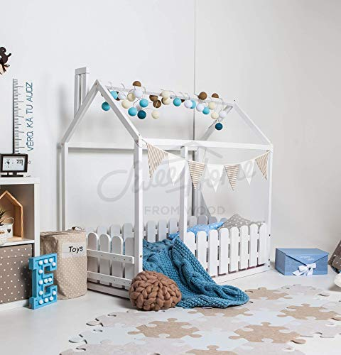 Children twin size wood bed