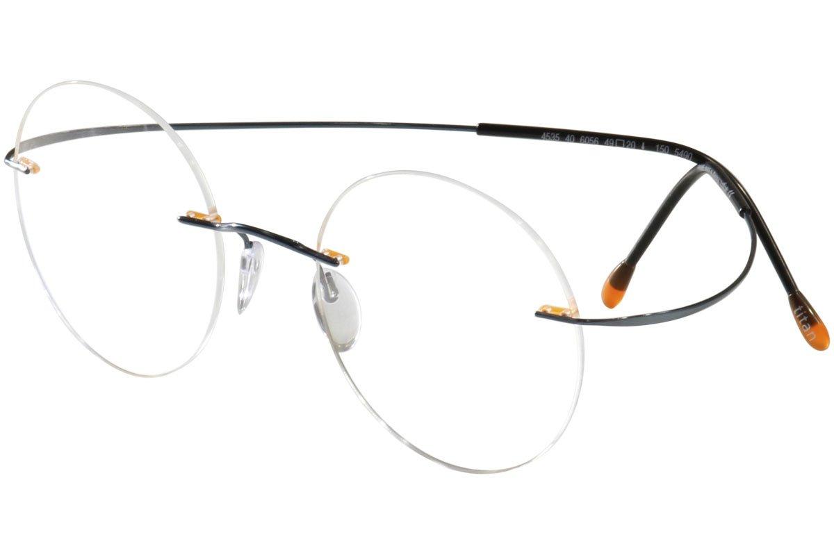 Silhouette Eyeglasses Titan Min Art Pulse Chassis 5490 6056 Optical Frame 21x160