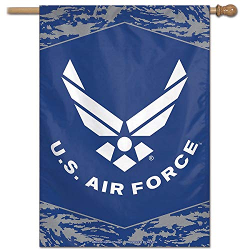 "WinCraft Military Air Force 43677117 United States Air Force Digi Camo 28"" x 40"" Vertical Flag, Multicolor"