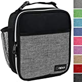 OPUX Premium Thermal Insulated Mini Lunch Bag | School Lunch Box For Teens, Adults | Soft Leakproof Liner | Compact Lunch Pail for Office Work (Heather Gray)