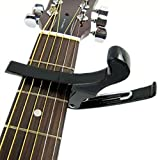 niceEshop(TM) Premium Quick Change Folk Acoustic Electric Guitar Banjo Capo Key Clamp,Black