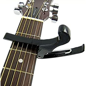 acoustic guitar capo key clamp black musical instruments. Black Bedroom Furniture Sets. Home Design Ideas