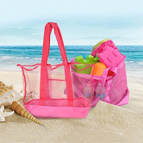 Malla Bolso Ligero Juguete Oxford Aikesi Almacenamiento Picnic De Bolsa Viaje Transpirable Playa Grande Tela xnY4X41wOq