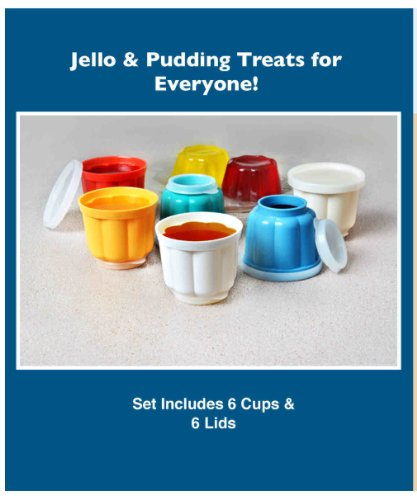 REUSABLE 12 PIECE SNACK GELATIN CUPS WITH LIDS