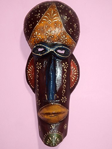 Incredible Indian Handicrafts Tribal Art Hand Carved Painted Wooden Mask Wall Hanging Wall Decor