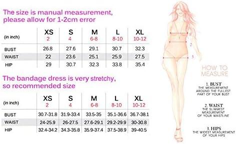51myh5n9LnL. AC - Whoinshop Women's Halter Sleeveless Mermaid Bodycon Bandage Cocktail Midi Dress