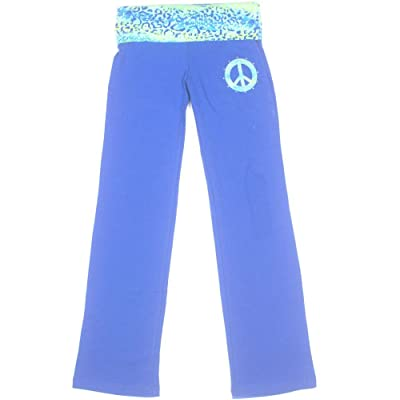 Bally Total Fitness Girls Embellished Yoga Pants X-Small 4-5 Blue HOM