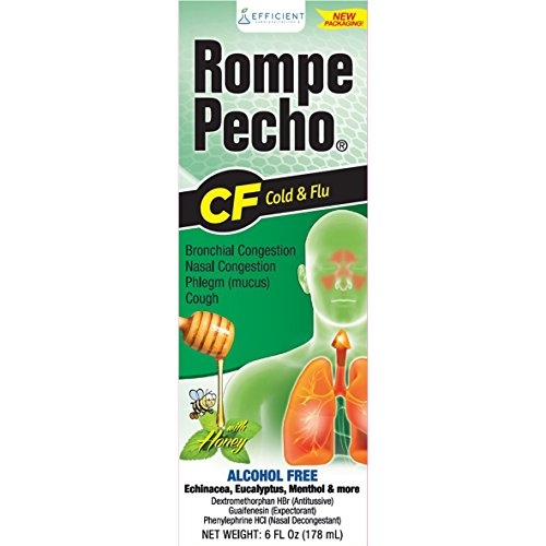 (Rompe Pecho CF Cough & Flu Syrup with Honey, 6 oz)