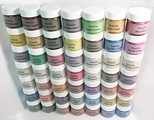 Pearl Ex Pigment Powder Complete 49 Color Kit Double Size 6 Gram Jars -  Jacquard Products, 00483