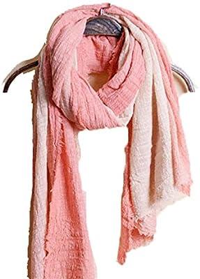 Mujeres Caliente Moda Largo Bufanda Arte Otoño Invierno Mujer Algodón Pareja Al Aire Libre Compras Chal,Pink-OneSize: Amazon.es: Hogar