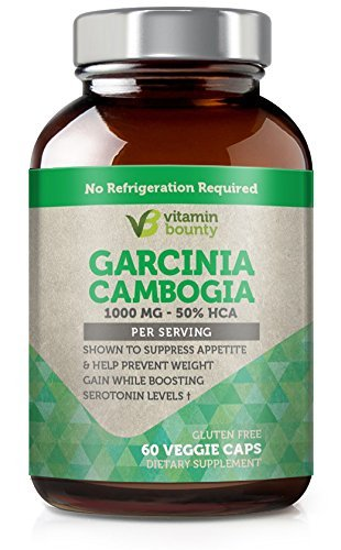 Vitamin Bounty - Garcinia Cambogia 100% PURE Extract with 100% Moneyback Guarantee - 60 count - 50% HCA
