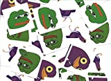 10X GOODS Pepe The Frog Stickers With Iconic Trash Dove Known As Peck / 2 Styles Of Each / 2x2 Inch / 10 QTY Each 40 Total / Show You're Pride For The Meme Magic