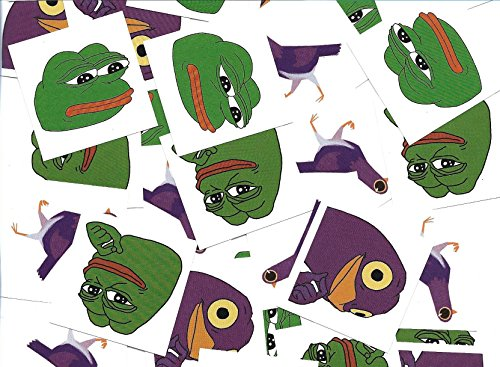 Costume Obamacare (10X GOODS Pepe The Frog Stickers With Iconic Trash Dove Known As Peck / 2 Styles Of Each / 2x2 Inch / 10 QTY Each 40 Total / Show You're)