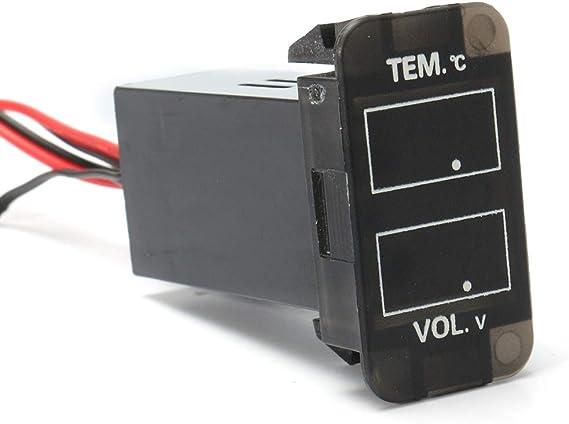 Viviance Medidor De Temperatura Led Volt/ímetro Digital para Toyota 4Runner Fj Cruiser