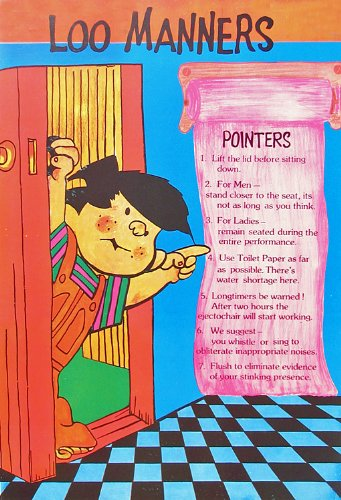 Loo Manners - Reprint on Paper - Unframed: Amazon in: Home & Kitchen