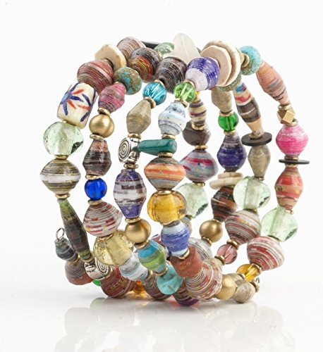 Fair Trade Fairtrade Rare Earth Coil Bracelet Handmade in Kenya, Africa Handcrafted with Recycled Materials
