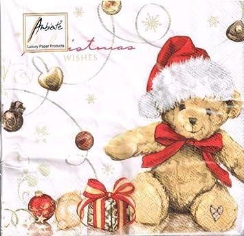 Teddy Weihnachten.Ambiente Servietten X Mas Teddy Weihnachten Christmas Wishes