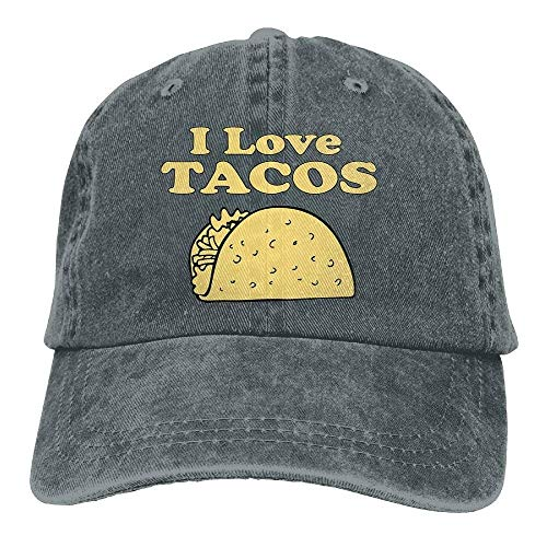 I Love Tacos Adults Adjustable Cowboy Cap Denim Hat for Outdoor ()
