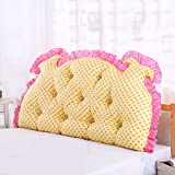 Cotton waist / double back / sofa back / Korean triangle soft bag / bedside cushions / bed pillow / ( Size : 1507015cm )