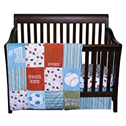 Trend Lab Little MVP 11-Pieces Crib Bedding Set